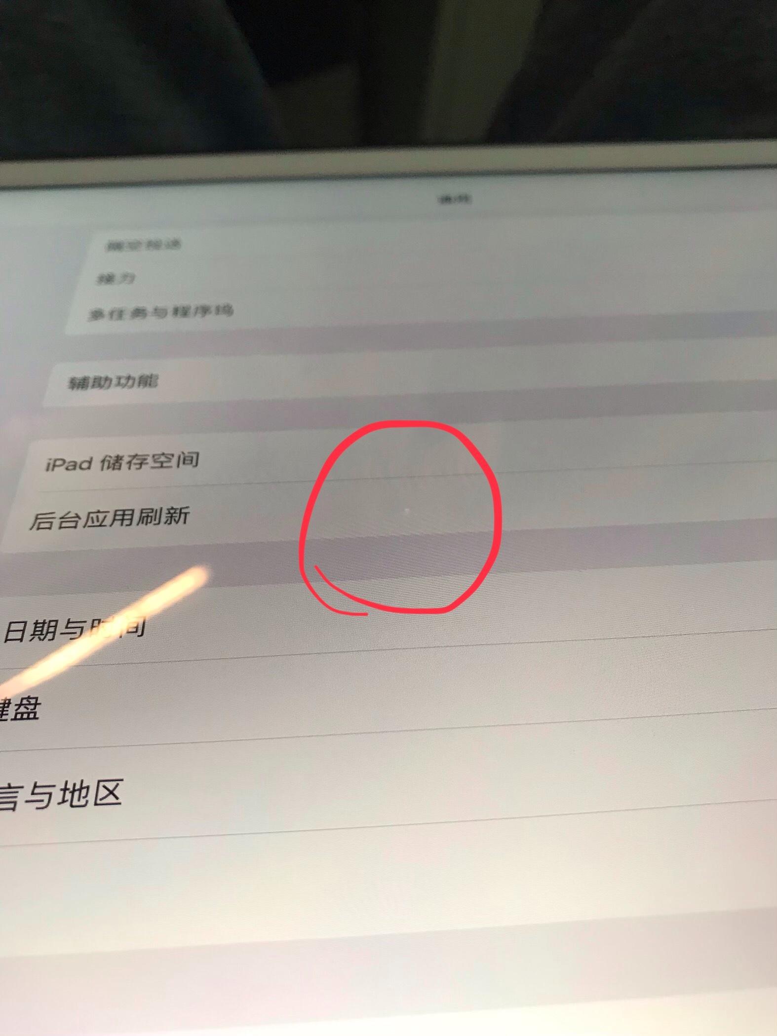 问题:            问:                                iPad Pro 屏幕白斑